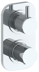 WATERMARK 22-T25 TITANIUM 6 3/8 X 3 1/2 INCH WALL MOUNT THERMOSTATIC SHOWER TRIM WITH BUILT-IN CONTROL