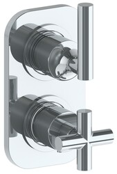 WATERMARK 23-T25 LOFT 6 3/8 X 3 1/2 INCH WALL MOUNT THERMOSTATIC SHOWER TRIM WITH BUILT-IN CONTROL