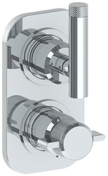 WATERMARK 25-T25 URBANE 6 3/8 X 3 1/2 INCH WALL MOUNT THERMOSTATIC SHOWER TRIM WITH BUILT-IN CONTROL