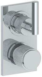 WATERMARK 27-T25 SENSE 6 3/8 X 3 1/2 INCH WALL MOUNT THERMOSTATIC SHOWER TRIM WITH BUILT-IN CONTROL