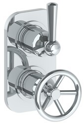 WATERMARK 31-T25 BROOKLYN 6 3/8 X 3 1/2 INCH WALL MOUNT THERMOSTATIC SHOWER TRIM WITH BUILT-IN CONTROL