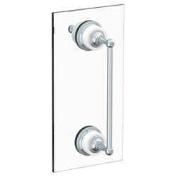 WATERMARK 180-0.1A-SDP VENETIAN 24 INCH GLASS MOUNT SHOWER DOOR PULL WITH KNOB AND HOOK