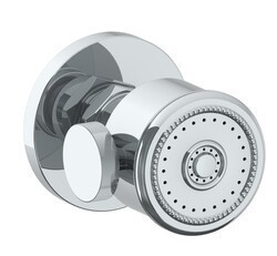 WATERMARK SS-BS2001 2 3/8 INCH WALL MOUNT ROUND BODY SPRAY WITH VOLUME CONTROL AND BEADED FACE