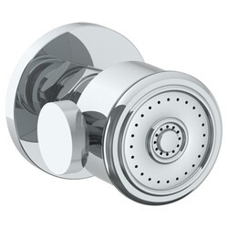 WATERMARK SS-BS2002 2 3/8 INCH WALL MOUNT ROUND BODY SPRAY WITH VOLUME CONTROL AND RIDGED FACE