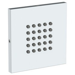 WATERMARK SS-BS500SQ 4 INCH WALL MOUNT SQUARE FLAT BODY SPRAY WITH EASY CLEAN