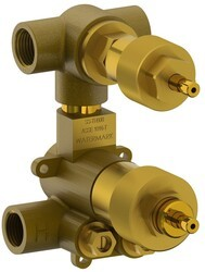 WATERMARK SS-TH70 1/2 INCH MINI THERMOSTATIC VALVE WITH BUILT IN VOLUME CONTROL AND TWO WAY DIVERTER