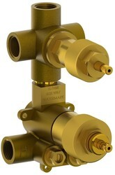 WATERMARK SS-TH80 1/2 INCH MINI THERMOSTATIC VALVE WITH BUILT IN VOLUME CONTROL AND THREE WAY DIVERTER