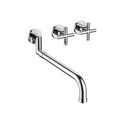 DORNBRACHT 36819892-0010 TARA THREE HOLES WALL MOUNT WIDESPREAD KITCHEN FAUCET WITH PULL OUT SPOUT