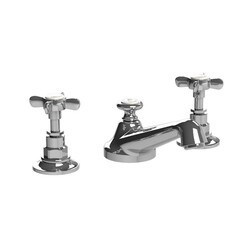 LEFROY BROOKS C1-1049 CLASSIC THREE HOLES DECK MOUNT BASIN MIXER WITH POP-UP WASTE AND CROSS HANDLES