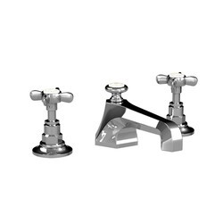 LEFROY BROOKS C1-1103 CLASSIC THREE HOLES DECK MOUNT MACKINTOSH BASIN MIXER WITH POP-UP WASTE AND CROSS HANDLES