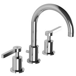 LEFROY BROOKS K1-1103 KAFKA 9 1/4 INCH THREE HOLES DECK MOUNT BASIN MIXER WITH POP-UP WASTE AND LEVER HANDLES