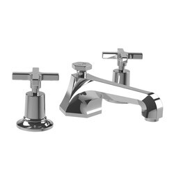 LEFROY BROOKS M1-1100 MACKINTOSH 2 3/8 INCH THREE HOLES DECK MOUNT BASIN MIXER WITH POP-UP WASTE AND CROSS HANDLES
