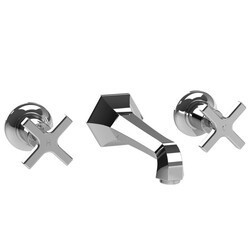 LEFROY BROOKS M1-1110 MACKINTOSH 2 3/8 INCH THREE HOLES WALL MOUNT BASIN MIXER WITH CROSS HANDLES