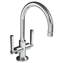 LEFROY BROOKS M2-1212 FLEETWOOD 11 3/4 INCH SINGLE HOLE DECK MOUNT BASIN MIXER WITH LEVER HANDLES