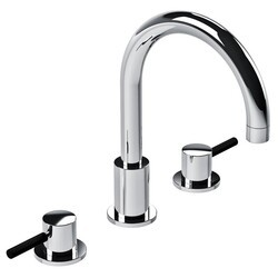 LEFROY BROOKS X1-1021 XO 9 7/8 INCH ZU THREE HOLES DECK MOUNT BASIN MIXER WITH LEVER HANDLES