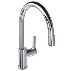 LEFROY BROOKS K1-3400 KAFKA 15 1/4 INCH SINGLE HOLE DECK MOUNT KITCHEN MIXER WITH LEVER HANDLE AND PULL-OUT HOSE