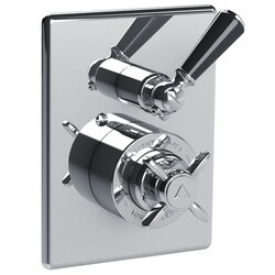 LEFROY BROOKS CB-4065 CLASSIC BLACK 7 7/8 INCH CONCEALED GODOLPHIN PRESSURE BALANCE MIXING VALVE TRIM ONLY WITH 2 WAY DIVERTER