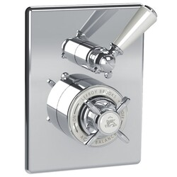 LEFROY BROOKS CW-4055 CLASSIC 5 7/8 INCH CONCEALED GODOLPHIN PRESSURE BALANCE MIXING VALVE TRIM ONLY WITH 2 WAY DIVERTER