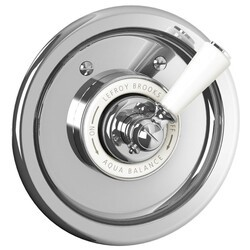LEFROY BROOKS CW-4071 CLASSIC 6 3/4 INCH ARCHIPELAGO PRESSURE BALANCE TRIM ONLY WITH WHITE LEVER HANDLE