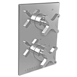 LEFROY BROOKS K1-4302 KAFKA 5 7/8 INCH PRESSURE BALANCE TRIM ONLY WITH 2 WAY DIVERTER AND CROSS HANDLE