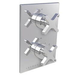 LEFROY BROOKS K1-4304 KAFKA 5 7/8 INCH PRESSURE BALANCE TRIM ONLY WITH 3 WAY DIVERTER AND CROSS HANDLE