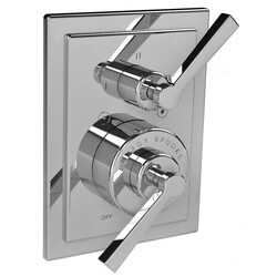 LEFROY BROOKS M1-4309 MACKINTOSH 5 7/8 INCH PRESSURE BALANCE TRIM ONLY WITH 3 WAY DIVERTER AND LEVER HANDLE