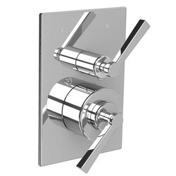 LEFROY BROOKS M2-4303 FLEETWOOD 5 3/4 INCH PRESSURE BALANCE TRIM ONLY WITH 2 WAY DIVERTER AND LEVER HANDLE