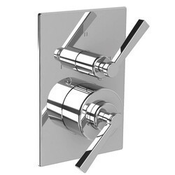 LEFROY BROOKS M2-4309 FLEETWOOD 5 3/4 INCH PRESSURE BALANCE TRIM ONLY WITH 3 WAY DIVERTER AND LEVER HANDLE