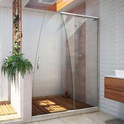 DREAMLINE SHDR-1760760 CREST 58-60 W X 76 H INCH CLEAR GLASS FRAMELESS SLIDING SHOWER DOOR