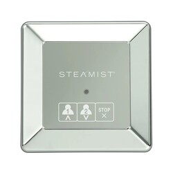 STEAMIST STEAMIST_220-PN TSX-220 TOTAL SENSE WALL MOUNT SQUARE CONTEMPORARY STEAM BATH CONTROL - POLISHED NICKEL