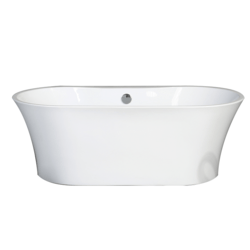 EVIVA EVTB1014-60WH 60 INCH FREE-STANDING OVAL BATHTUB IN WHITE