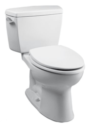 TOTO CST744EG#01 ECO DRAKE TWO PIECE ELONGATED 1.28 GPF TOILET WITH E-MAX FLUSH SYSTEM AND SANAGLOSS