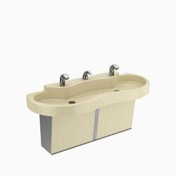 SLOAN 3850782 SLOAN STONE ELS-42000 WALL MOUNT TWO STATION BATHROOM SINK