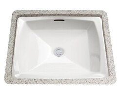 TOTO LT491G CONNELLY 14-1/2 INCH UNDERMOUNT BATHROOM SINK WITH SANAGLOSS CERAMIC GLAZE AND OVERFLOW DRAIN