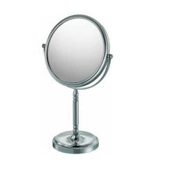 APTATIONS 86640 7-7/8 INCH RECESSED BASE FREESTANDING MIRROR IN CHROME