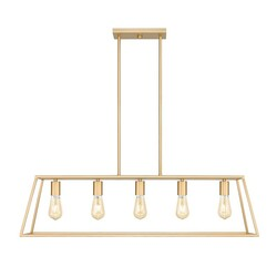 OVE DECORS 15LPE-ADE238-PGBKY ADELE 5-LIGHT 38 INCH PENDANT LIGHT IN BRUSHED GOLD