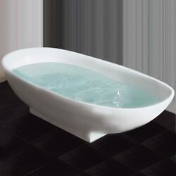 CAMBRIDGE PLUMBING CM01 CULTURED MARBLE PEDESTAL TUB 71 INCH