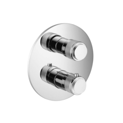 ISENBERG 250.4101 SERIE 250 3/4 INCH THERMOSTATIC SHOWER VALVE WITH VOLUME CONTROL AND TRIM