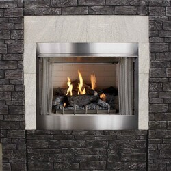 CAROL ROSE OP36FP72MN 36 INCH PREMIUM OUTDOOR INTERMITTENT FIREPLACE, NATURAL GAS