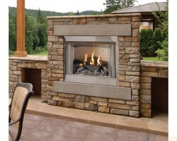 CAROL ROSE OP42FP72MN 42 INCH PREMIUM OUTDOOR INTERMITTENT FIREPLACE, NATURAL GAS