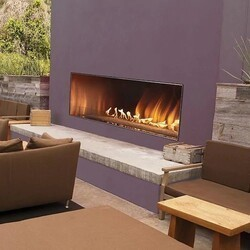 CAROL ROSE OLL48FP12SN 48 INCH OUTDOOR LINEAR FIREPLACE, NATURAL GAS