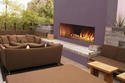 CAROL ROSE OLL60FP12SN 60 INCH OUTDOOR LINEAR FIREPLACE, NATURAL GAS