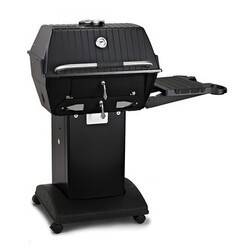 BROILMASTER C3PK1 CHARCOAL SERIES GRILL WITH CART OR BASE AND ONE SIDE SHELF - BLACK