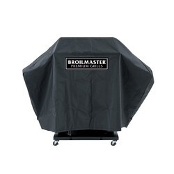 BROILMASTER DPA110 FULL LENGTH COVER FOR BROILMASTER GRILL WITH 2 SIDE SHELVES - BLACK