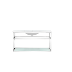 SWISS MADISON SM-BV554 PIERRE 48 INCH SINGLE BATHROOM VANITY WITH METAL FRAME AND OPEN SHELF