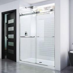 DREAMLINE SHDR-6348760 ESSENCE 44-48 W X 76 H FRAMELESS BYPASS SHOWER DOOR