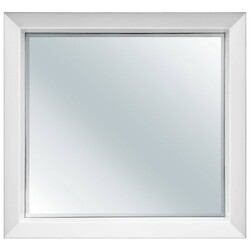 FINE FIXTURES MXM30WH MAXI 29 1/2 INCH X 25 5/8 INCH WALL MOUNT SQUARE MIRROR - WHITE