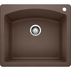 BLANCO 440208 DIAMOND GRANITE 25 INCH KITCHEN SINK IN CAFE BROWN