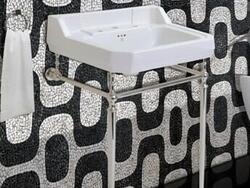 FINE FIXTURES CO24HE 24 INCH TWO HOLES HERITAGE RECTANGULAR CONSOLE BATHROOM SINK - WHITE