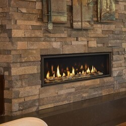 MAJESTIC ECHEL48IN-C ECHELON II 48 INCH TOP DIRECT VENT NATURAL GAS FIREPLACE WITH INTELLIFIRE TOUCH IGNITION SYSTEM